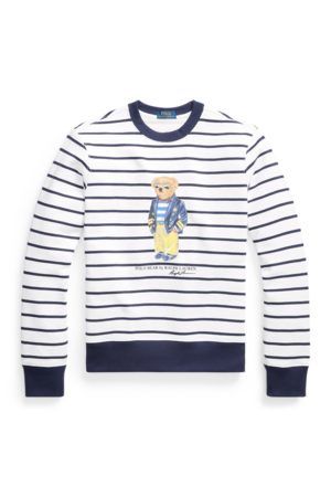 Polo Ralph Lauren Striped Marina Polo Bear Sweatshirt