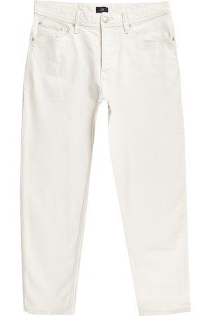 River Island Mens Ecru Jimmy tapered jeans