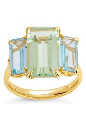 Dinny Hall Trinny Trilogy Green Amethyst And Blue Topaz Ring