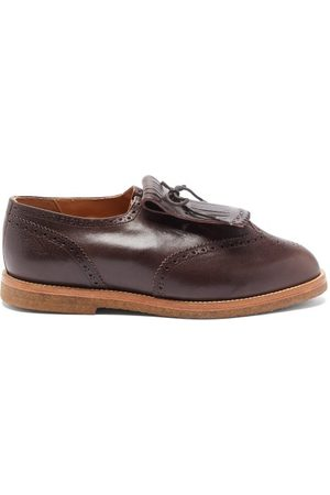 Jacques Ray Tasselled Leather Derby Shoes - Mens - Dark