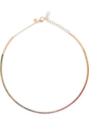 Diane Kordas Women Necklaces - Rainbow Sapphire & 18kt Rose-gold Choker - Womens - Multi