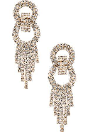 Ettika Crystal Fringe Earrings in .