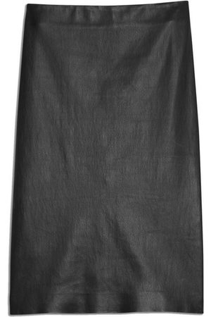 THEORY Skinny Pencil Skirt In Leather