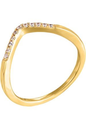 The Love Silver Collection Wishbone Cubic Zirconia Ring