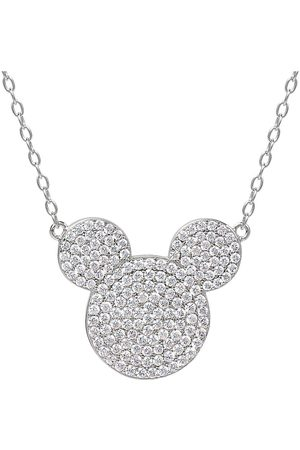 Disney Mickey Mouse Sterling Crystal Pendant Necklace