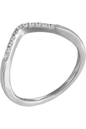 The Love Silver Collection Women Rings - Wishbone Cubic Zirconia Ring