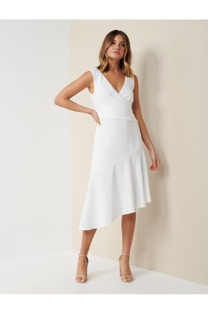 Forever New Women's Cynthia Draped Dress in Porcelain, Size 10 Main/Polyester