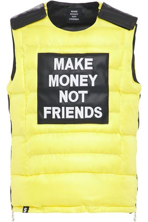 MAKE MONEY NOT FRIENDS Logo Patch Bulletproof Jacket Vest