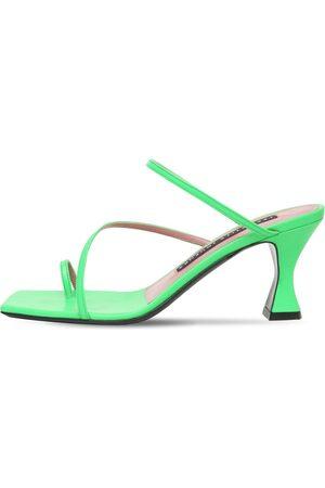 Les Petits Joueurs 70mm Amanda Leather Thong Sandals