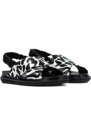 Marni Fussbett leopard-print sandals