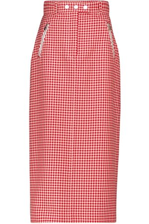 Miu Miu Houndstooth virgin wool pencil skirt
