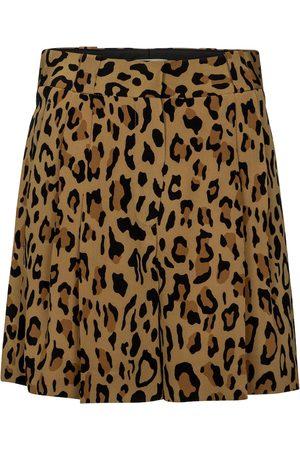 Blazé Milano Fell leopard-print silk shorts