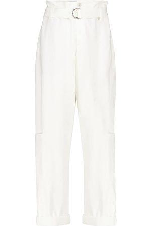 Brunello Cucinelli High-rise stretch-cotton pants
