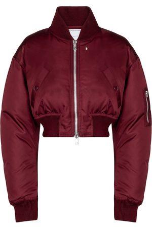 Bottega Veneta Cropped down bomber jacket