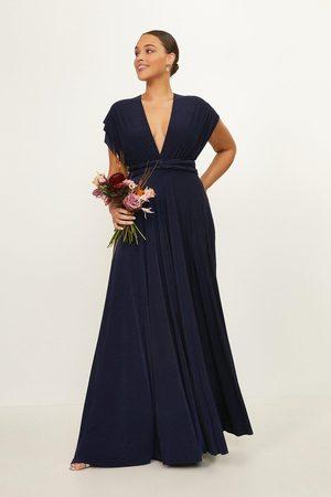 Coast UK Women Casual Dresses - Coast Curve Multiway Jersey Maxi Dress -, Navy