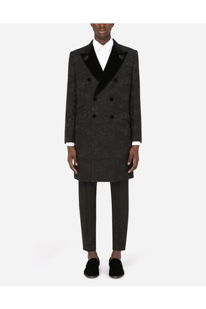 Dolce & Gabbana Men Coats - Coats and Blazers - DOUBLE-BREASTED JACQUARD TUXEDO COAT WITH PATCH EMBELLISHMENT male 44