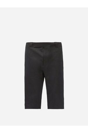 Prada Triangle Logo-patch Gabardine Shorts - Mens