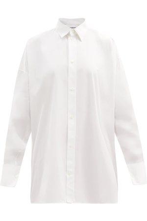 Balenciaga Oversized Cotton-poplin Shirt - Womens