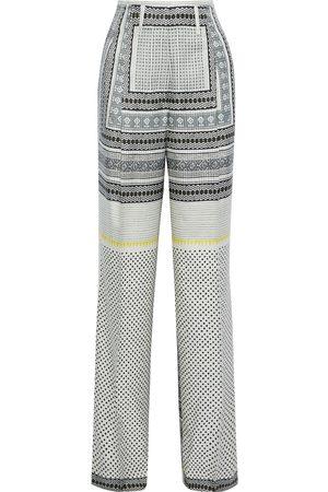 ETRO Woman Printed Silk-twill Wide-leg Pants Multicolor Size 40