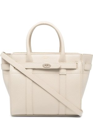 MULBERRY Mini Bayswater grained tote - Neutrals
