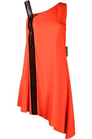 Roberto Cavalli Asymmetric mesh-detail dress