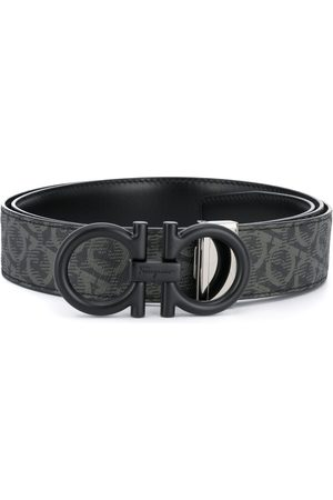 Salvatore Ferragamo Gancini-print buckle-fastening belt