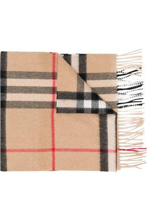 Burberry Men Scarves - Vintage Check cashmere scarf - Neutrals