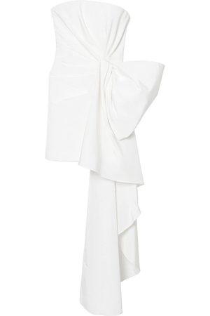 Carolina Herrera Bow-detail silk minidress