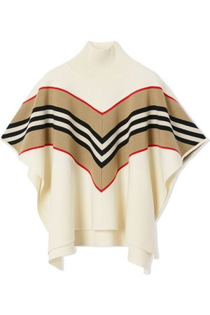 Burberry Signature stripe cape jacket - Neutrals