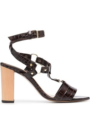 Tila March Crocodile-effect open-toe sandals