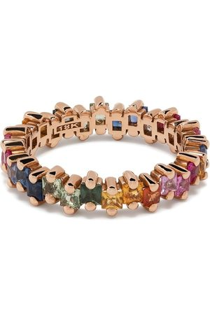 Suzanne Kalan 18kt rose gold sapphire Rainbow Eternity band ring
