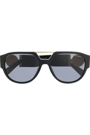 VERSACE Medusa plaque aviator sunglasses