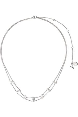 Yoko London 18kt white gold diamond pearl Trend necklace