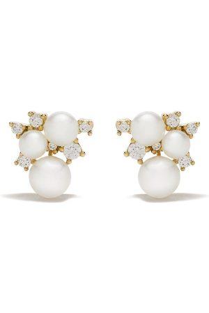 Yoko London Women Earrings - 18kt yellow gold Trend freshwater pearl and diamond earrings