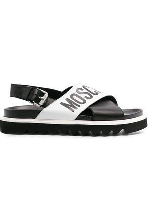 Moschino Cross-over logo sandals