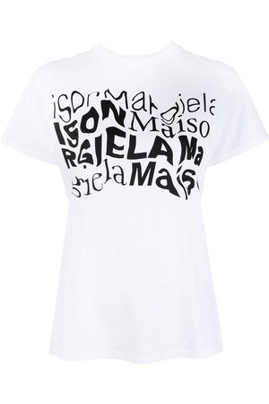 Maison Margiela Distorted logo-print T-shirt