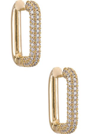 Shashi Cosmo Pave Hoop in .