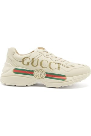 Gucci Rhyton Logo-print Leather Trainers - Womens - Multi