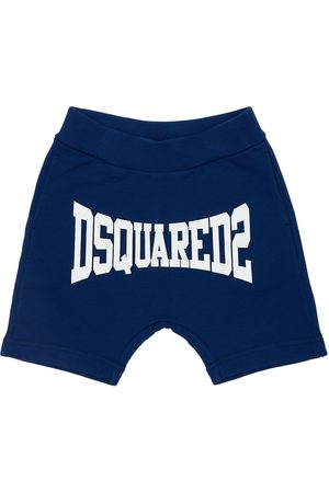 Dsquared2 Logo Print Cotton Sweat Shorts