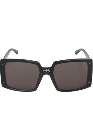 Balenciaga 0081s Shield Square Sunglasses