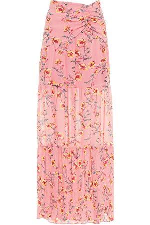 Rachel Zoe Woman Ruched Floral-print Georgette Maxi Skirt Size 0