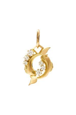 Jade Trau Pisces Diamond & 18kt Zodiac Charm - Womens