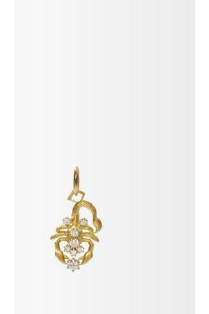 Jade Trau Scorpio Diamond & 18kt Zodiac Charm - Womens