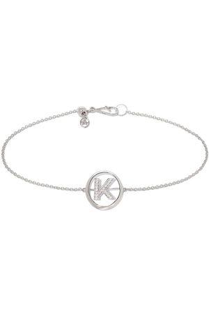 Annoushka 18kt white gold diamond Initial K bracelet