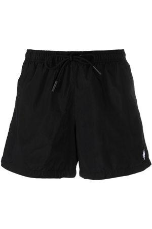 MARCELO BURLON Embroidered Cross swim shorts