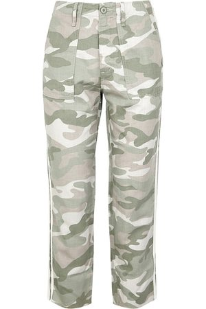 Mother Women Trousers - Shaker Camouflage Cotton-blend Trousers
