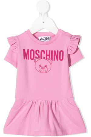 Moschino Kids Short-sleeve Teddy Bear dress