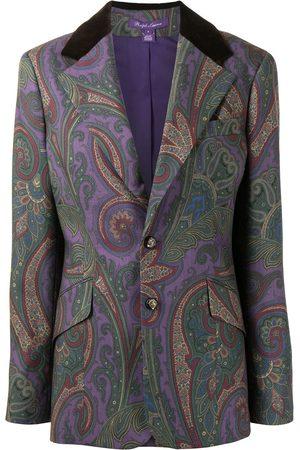 Ralph Lauren Collection Women Blazers - Single breasted paisley-print blazer