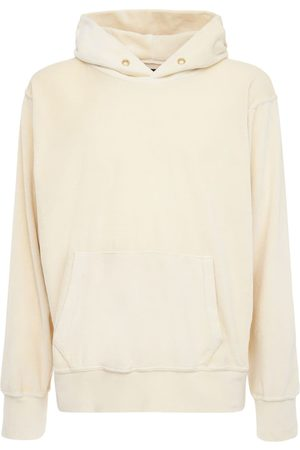 Les Tien Cropped Cotton Sweatshirt Hoodie