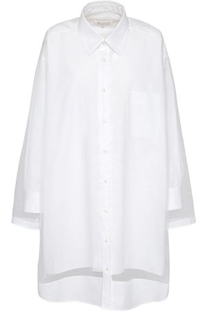 Maison Margiela Long Cotton Shirt Dress